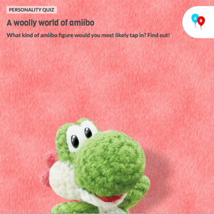 The icon for Poochy & Yoshi's Woolly World Fun Personality Quiz