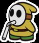 Yellow Slurp Guy sprite from Paper Mario: Color Splash