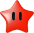 Render of a Red Power Star in Super Mario Galaxy.