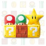 Block and power-up cushion from Super Nintendo World