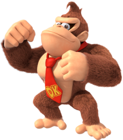 Artwork of Donkey Kong in Super Mario Party (also used in Mario Kart Tour)