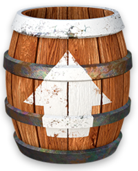 Artwork of a Barrel Cannon from Donkey Kong Country: Tropical Freeze.