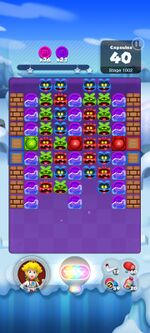 Stage 1002 from Dr. Mario World
