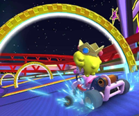 The icon of the Daisy Cup challenge from the Mario Bros. Tour and the Dry Bowser Cup challenge from the Bowser vs. DK Tour in Mario Kart Tour