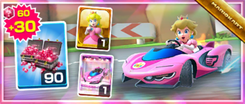 The Pink Wing Pack from the Peach Tour in Mario Kart Tour
