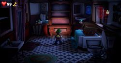 The Mirror Bathroom in Twisted Suites in Luigi's Mansion 3