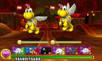Screenshot of World 7-7, from Puzzle & Dragons: Super Mario Bros. Edition.