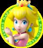 The icon artwork for Princess Peach from Mario Tennis Open
