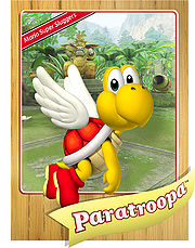 Level 1 Paratroopa card from the Mario Super Sluggers card game