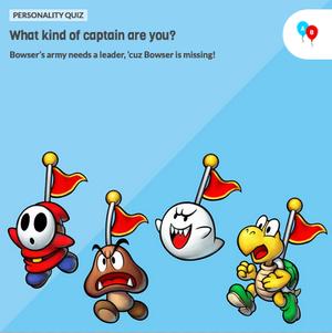 The icon for Mario & Luigi Superstar Saga + Bowser's Minions Game Personality Quiz