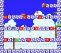Level 7-2 map in the game Mario & Wario.
