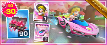 The Pink Wing Pack from the Sydney Tour in Mario Kart Tour