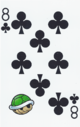 The Eight of Clubs card from the NAP-02 deck.