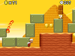 Mario jumping here in World 2-5.