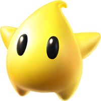 Super Mario Galaxy promotional artwork: A Yellow Luma
