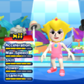 Princess Peach Mii Costume in the game Mario & Sonic at the London 2012 Olympic Games for the Wii.