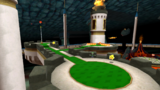"""A screenshot of Bowser's Galaxy Generator during the """"Bowser's Fortified Fortress"""" mission from Super Mario Galaxy 2."""