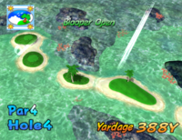 The fourth hole of Blooper Bay from Mario Golf: Toadstool Tour.