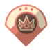 Pink Gold Peach's emblem from baseball from Mario Sports Superstars