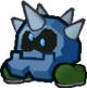 The green Iron Cleft from Paper Mario: The Thousand-Year Door