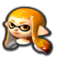 Female Inkling's head icon in Mario Kart 8 Deluxe.