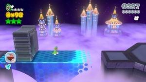 Luigi sighting in Footlight Lane in Super Mario 3D World.