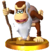 Cranky Kong's trophy, from Super Smash Bros. for Nintendo 3DS.