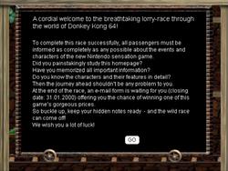 Screenshot of Donkey Kong 64 Lore Quiz