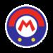 Mario's emblem from baseball from Mario Sports Superstars