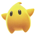 A Giant Luma in Super Mario Galaxy 2