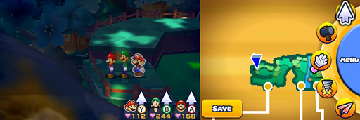 Location of the fourth and last item patch in Gloomy Woods.