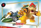 Mario Kart Wii trading card of Bowser