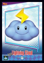 The Lightning Cloud card from the Mario Kart Wii trading cards