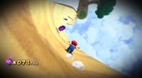 Mario collecting Purple Coins in Super Mario Galaxy 2.