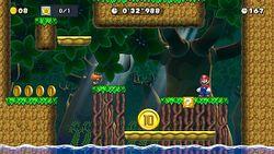 The Ninji Speedruns level The 10-Coin of Deep Woods.