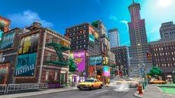 Metro Kingdom artwork from Super Mario Odyssey.