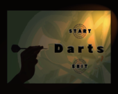Darts' title screen from WarioWare: Smooth Moves