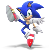 Sonic the Hedgehog from Super Smash Bros. Ultimate