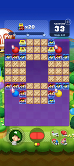 Stage 243 from Dr. Mario World