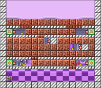 Level 10-4 map in the game Mario & Wario.