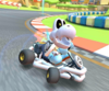 The icon of the Dry Bones Cup challenge from the Valentine's Tour and the Baby Luigi Cup challenge from the Frost Tour in Mario Kart Tour