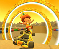 The icon of the Lemmy Cup's challenge from the Jungle Tour in Mario Kart Tour.