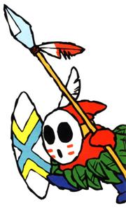 A Spear Guy from Super Mario World 2: Yoshi's Island