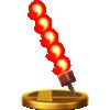 Fire Bar's trophy render from Super Smash Bros. for Wii U
