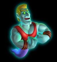 Artwork of Biff Atlas from Luigi's Mansion