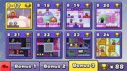 Menu of Bonus 3