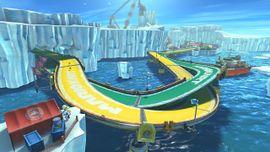 Ice Ice Outpost from Mario Kart 8 - The Legend of Zelda × Mario Kart 8.