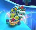 The icon of the Waluigi Cup challenge from the Bowser vs. DK Tour in Mario Kart Tour