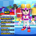 A Wave the Swallow costume for Miis in the Wii version of Mario & Sonic at the London 2012 Olympic Games.