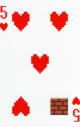The Five of Hearts card from the NAP-01 deck.